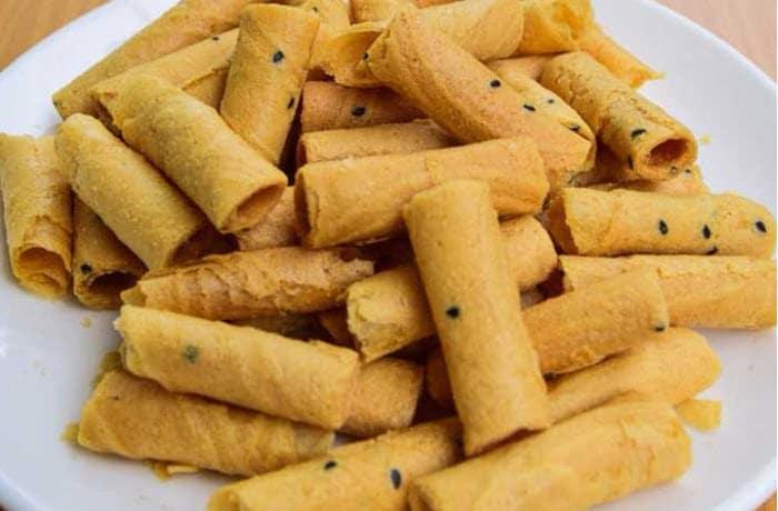 ขนมไทย ทองม้วน